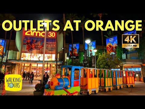 The Outlets At Orange | Outlet Mall Shopping | 4K Walking Tour