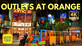The Outlets at Orange   Outlet Mall shopping   4K Walking Tour