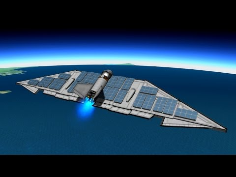 KSP - 1.1 - Atmospheric Ion-engine solar aircraft experiment