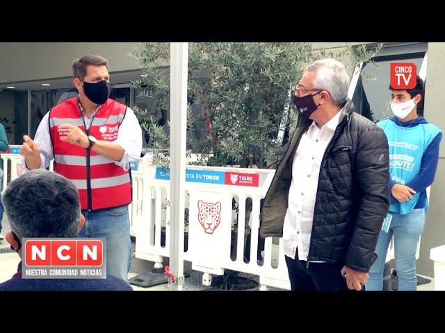 CINCO TV - Julio Zamora supervisó un nuevo punto de vacunación en la delegación de Benavídez norte