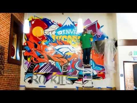 Graffiti Artist In Action Timelapse