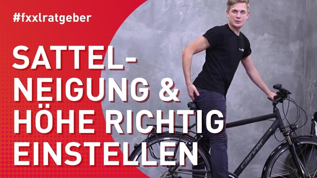 Fahrradsattel richtig einstellen