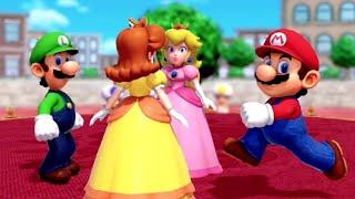 Super Mario Party - All Funny Minigames - Mario vs Peach vs Luigi vs Daisy