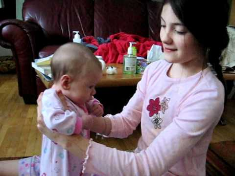 "big sister sings ""three little flies"""