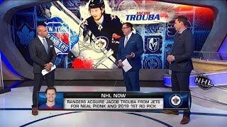 NHL Now:  How Jacob Trouba trade impacts Rangers, Jets moving forward  Jun 18,  2019