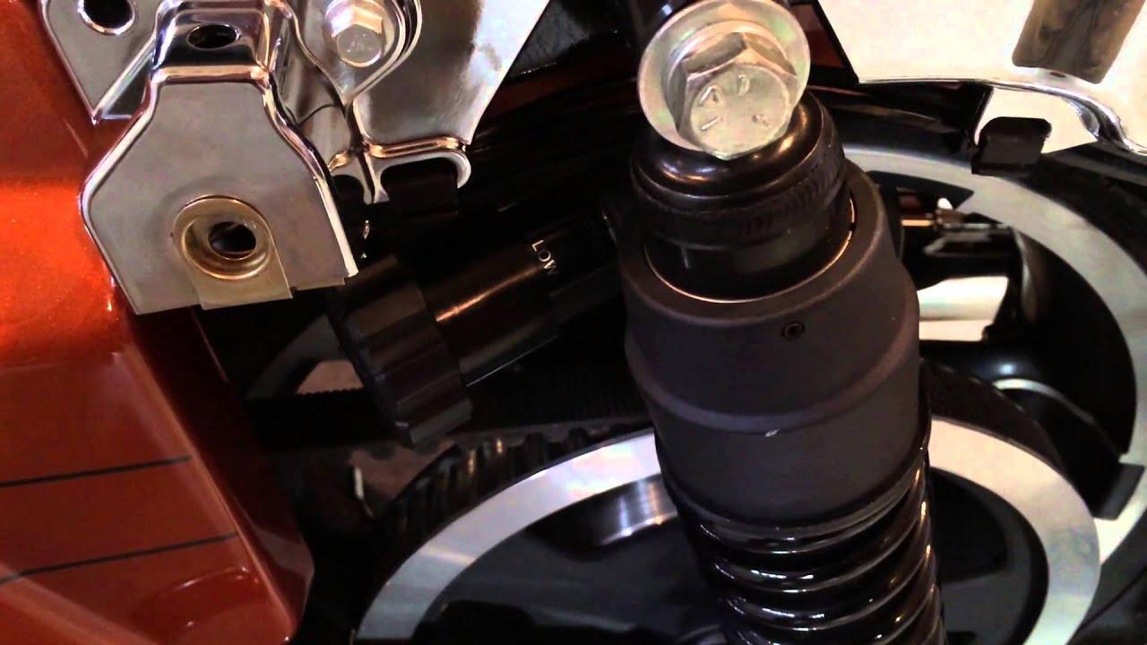 hight resolution of manual adjust harley davidson street glide touring rear suspension biker podcast