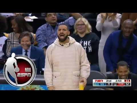 Kevin Durant misses dunk and Drake tells him the shot was trash | ESPN