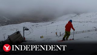 Unseasonal snow gives skiers chance to return to slopes in Lake District
