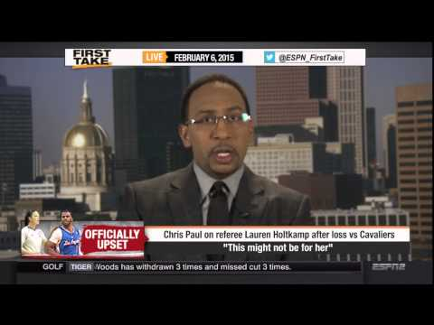 Skip and Stephen A. talk Chris Paul's critique of female ref