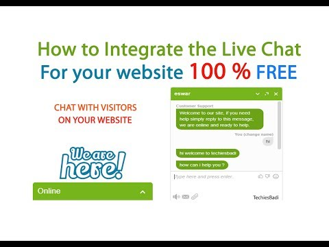 How To Integrate The Live Chat  For Your Website 100 % FREE