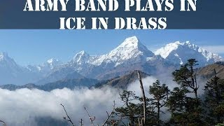 Indian Soldiers ice-skate & play tunes in Kashmir