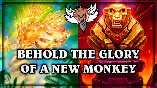 Behold the Glory of a New Golden Monkey ~ The Witchwood Hearthstone