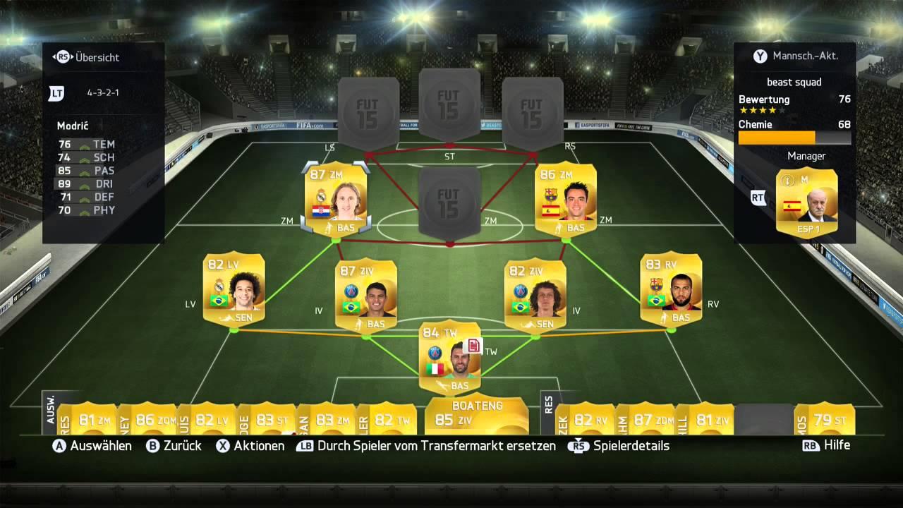 Fifa 15 Squad Builder Das Beste Team Für 65k Münzen Youtube