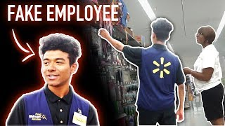 Pretending to work at WALMART