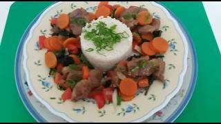 Воскресный обед .Нежное мясо с овощами.