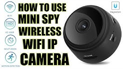 How to use Mini Spy IP Camera Wireless WiFi HD 1080P Hidden Home Security Night