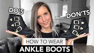 HOW TO WEAR ANKLE BOOTS | HOW TO STYLE ANKLE BOOTS | SKINNY JEANS