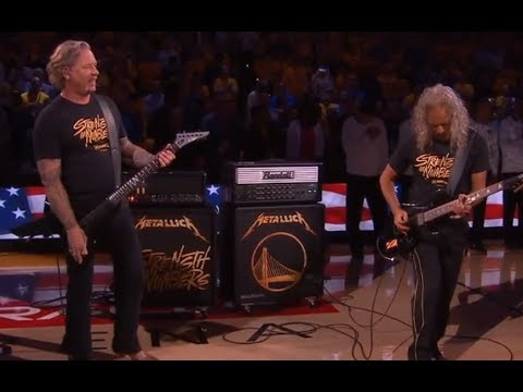 Metallica's Hetfield and Hammett performed the U.S. anthem at the NBA Game 3 final!