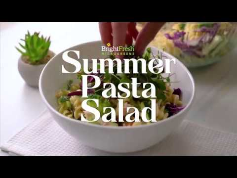 Summer Pasta Salad with Micro Rainbow Mix!