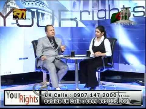 "Barrister Monwar Hossain on ""Your Rights"" (Apnar Odhikar) law related live show on Bangla TV(UK)"