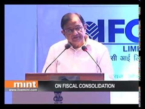 P Chidambaram on fiscal consolidation