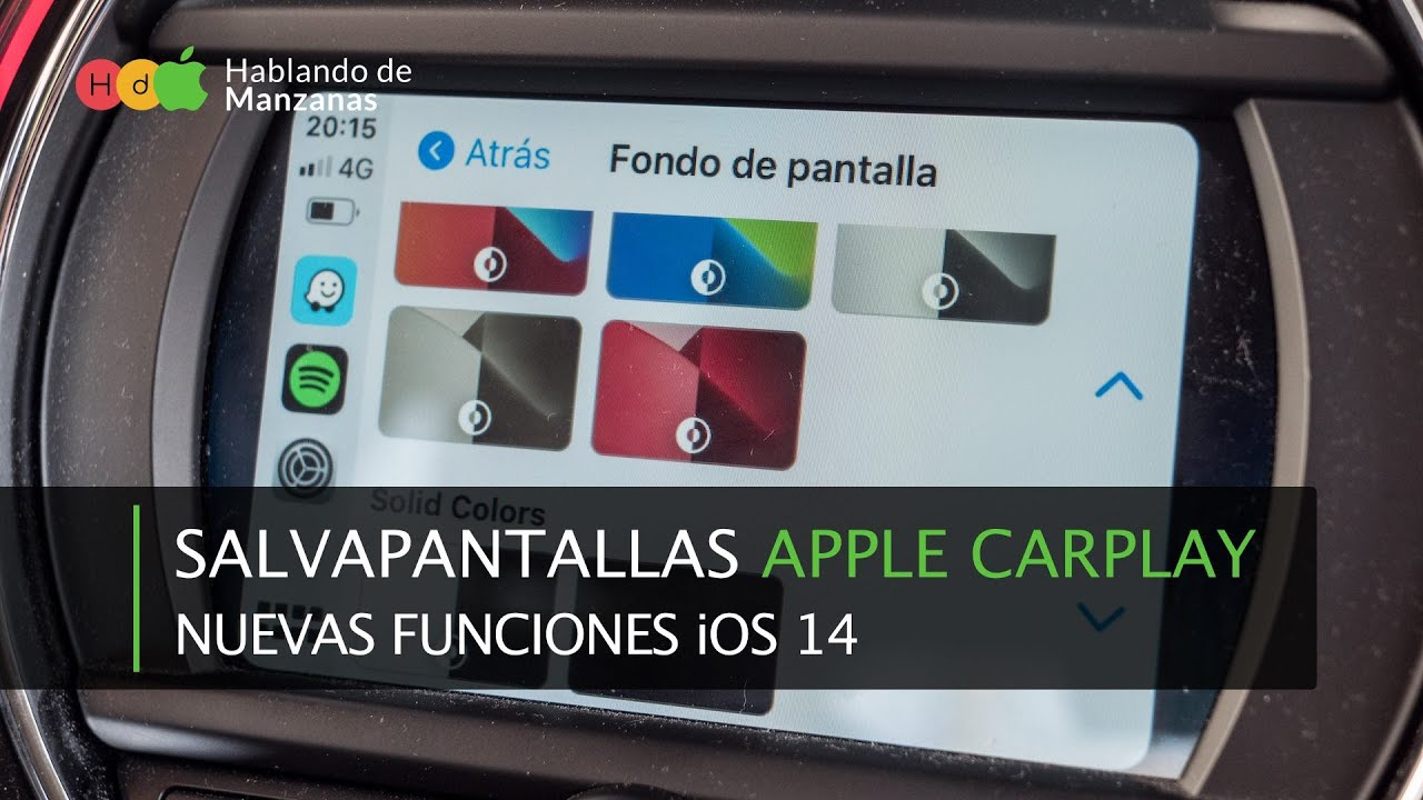Cómo cambiar el fondo de pantalla en Apple Carplay con iOS 14