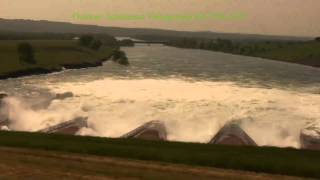 Pierre Ft. Pierre Flood of 2011 - Oahe Dam and Spillway