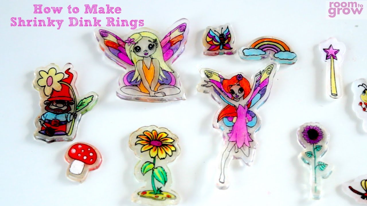 How To Make Shrinky Dink Rings Craft Ideas For Kids