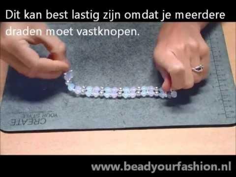 Magnifiek Sieraden maken -- Mini DIY project 3: Dubbele armband maken - YouTube @CQ68