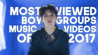 «TOP 50» MOST VIEWED KPOP BOYGROUPS & MALE SOLOIST'S MUSIC VIDEOS OF 2017 (OCTOBER)