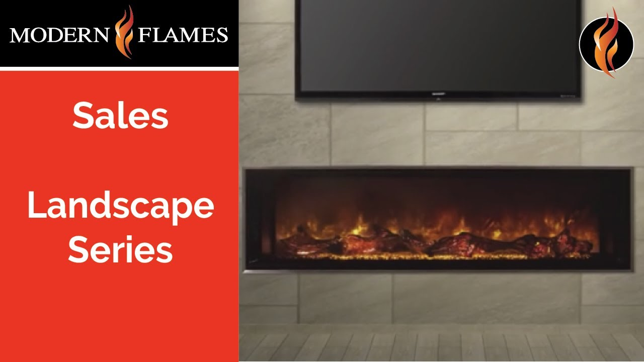 Product video of the Landscape Series Electric Fireplace. Modern Flames