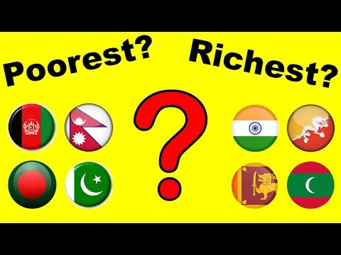 Top 8 Richest South Asian Countries (2018)