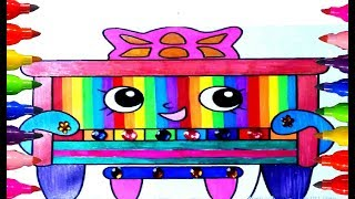 Rainbow Coloring Pages Shopkins Wiki Polly Piano Petkins kids Boys and Girls Learning Colours