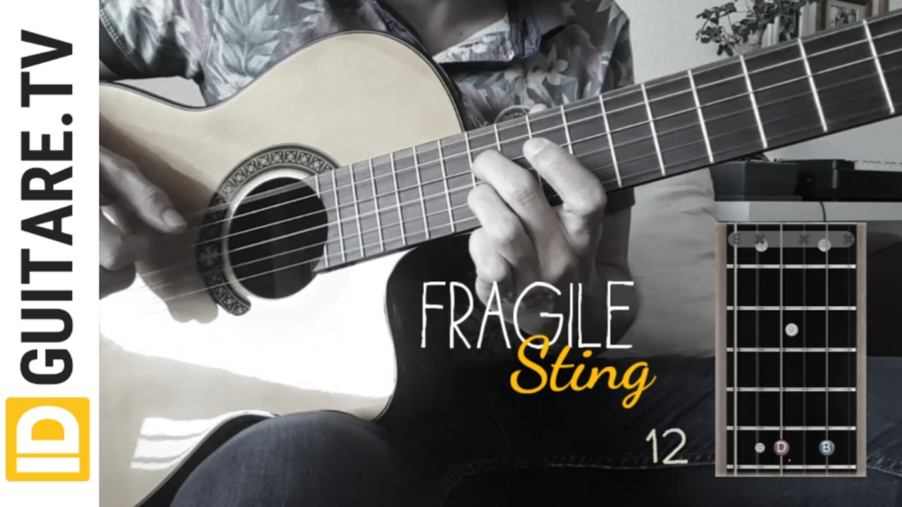 Fragile Sting Acoustic Guitar Cover Chords Tuto Guitare