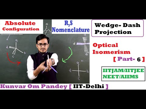 Stereoisomerism-10 || Optical Isomerism#6 || R-S Nomenclature In Wedge Dash Projection  #OMSirIITD
