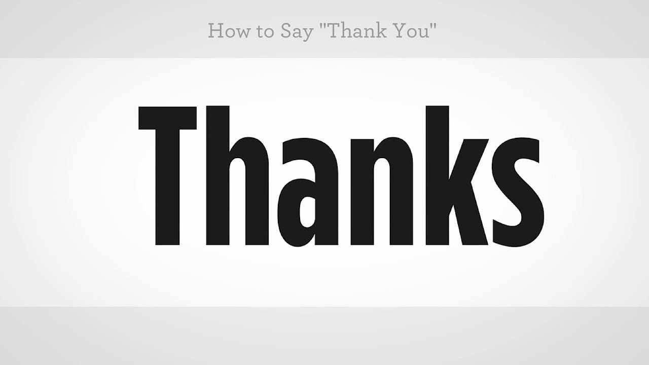 How To Say Thank You Mandarin Chinese Youtube