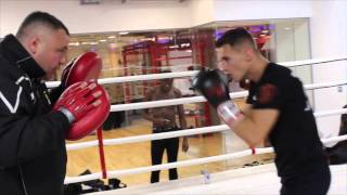 RISING STAR TOMMY MARTIN FULL PAD WORKOUT WITH TRAINER BARRY SMITH / iFL TV