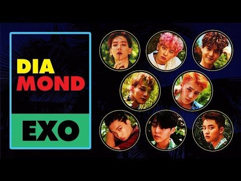 EXO - Diamond (다이아몬드) (Korean Version) [Lyric Video]