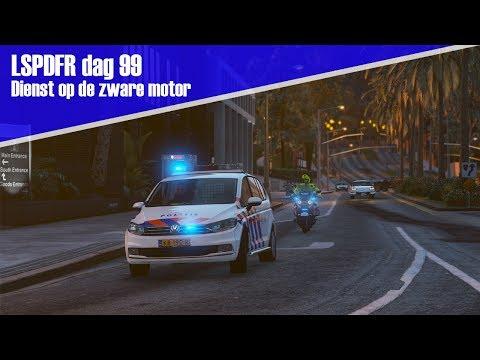 GTA 5 lspdfr dag 99 - Dienst op de zware motor