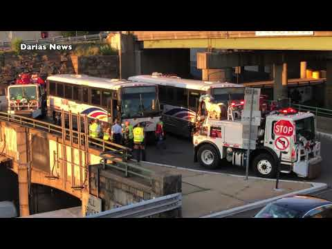 Route 495 West Disabled NJ TRANSIT Bus - YouTube
