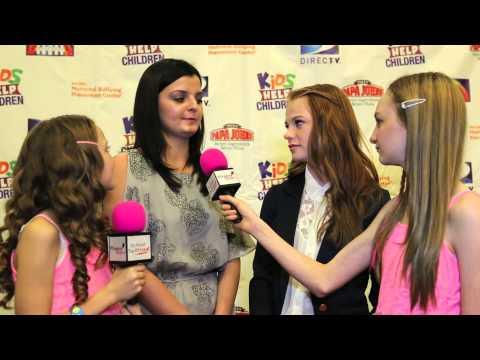 THE HUNGER GAMES Annie Thurman and Dakota Hood 2012 Kids Help Children Celebrity Event