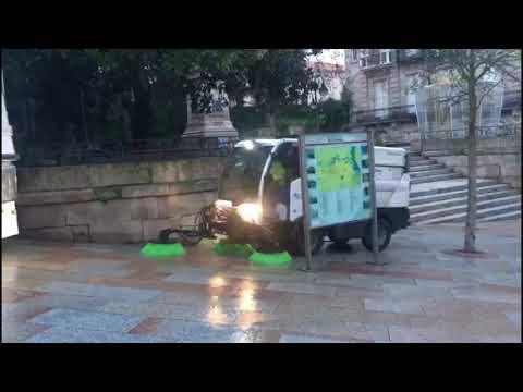 Ourense amanece sin basura el primer día de 2021