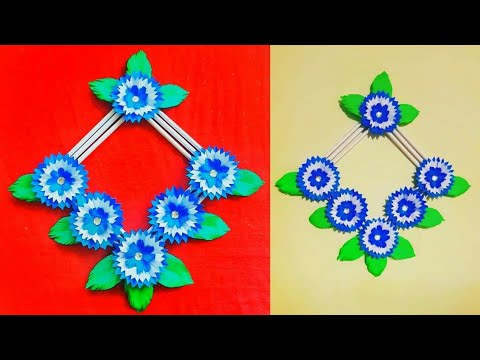 DIY: how to make paper wall hanging wallmate 💝 very easy room Decor 😊 best out of paper 😃