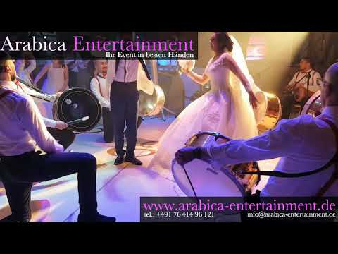 Zaffe Beautiful Turkish Wedding Bride And Groom Entrance Show 2018 - Arabica Entertainment -