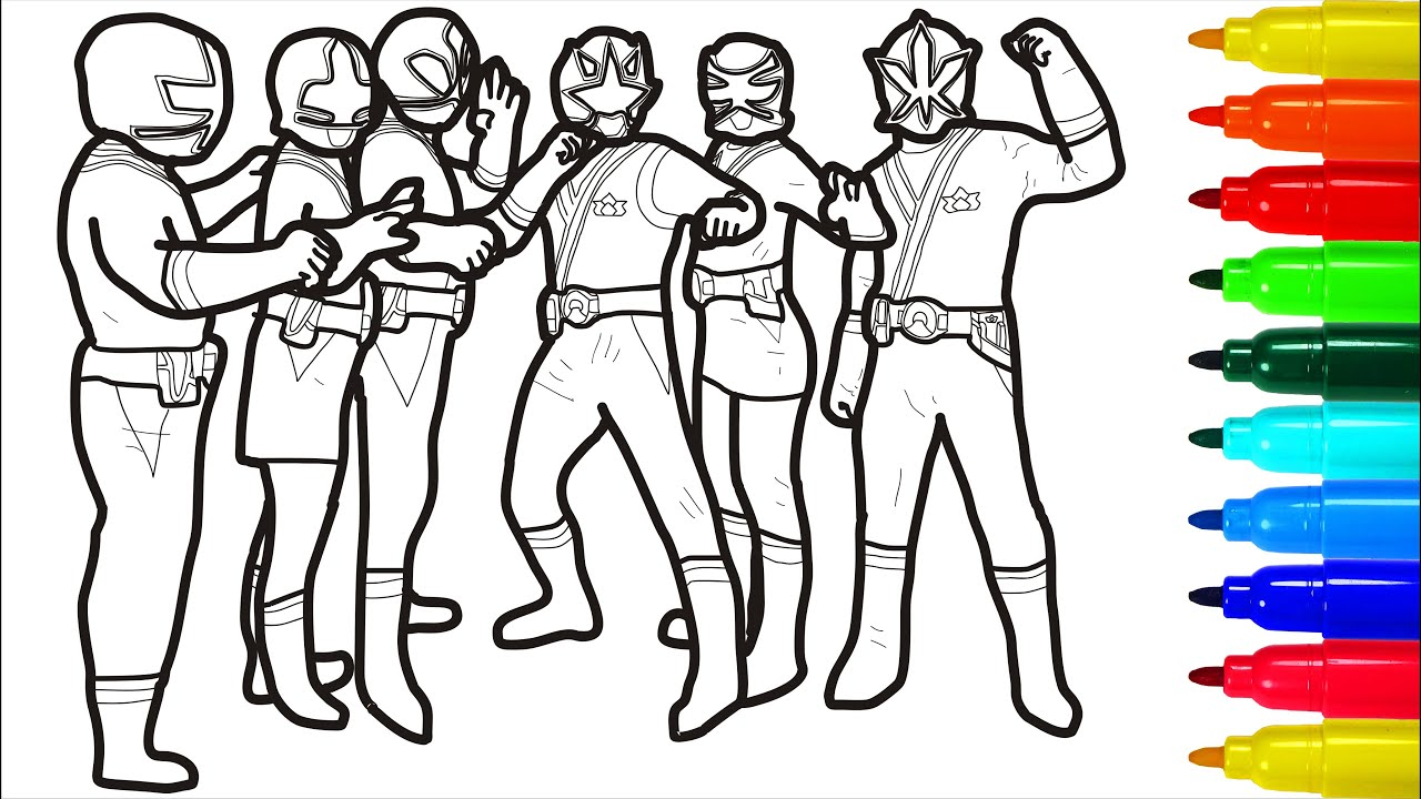 Power Rangers Samurai Fight To The End Coloring Pages