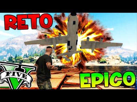 RETO SUPER EPICO ATERRIZAJE IMPOSIBLE EN EL AGUA CON EL TITAN!! GTA 5 ONLINE Makiman