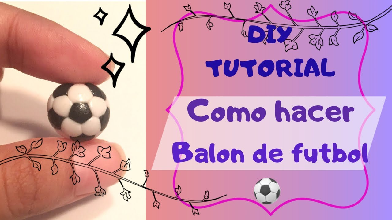 Cómo Hacer Balón De Fútbol En 3d Diy Masa Flexible Porcelana Fría Fondant Biscuit Youtube
