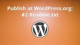 Publish at WordPress.org: #2 Readme.txt Mp3
