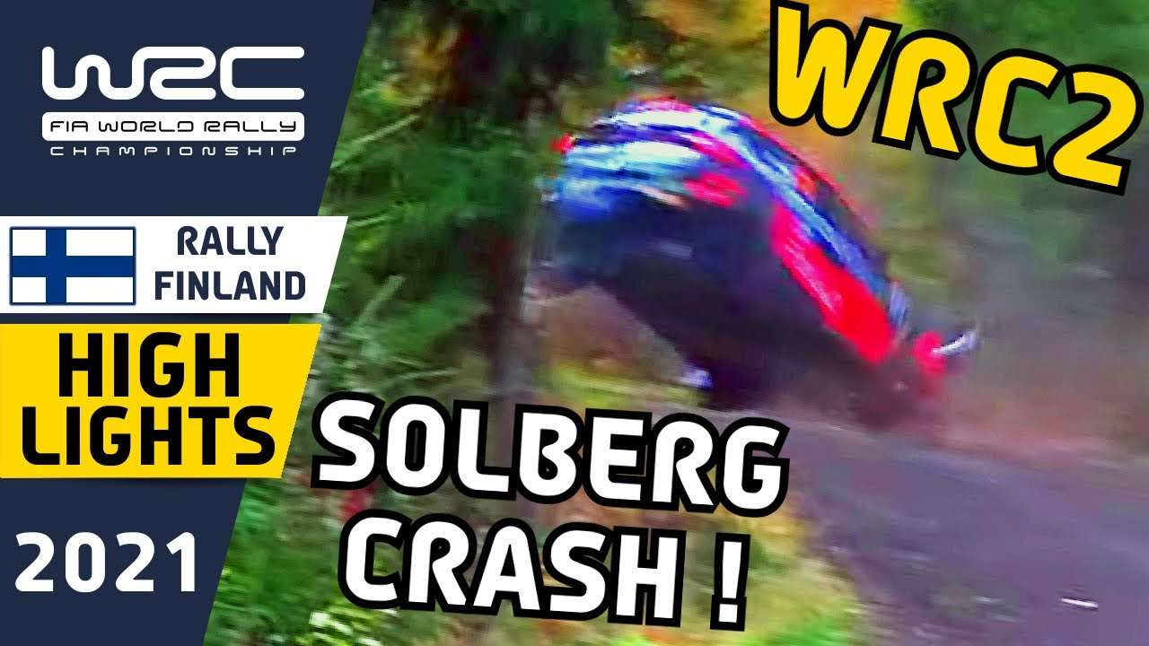 WRC2 Rally Highlights Day 2 with Oliver Solberg CRASH! : Secto Rally Finland 2021