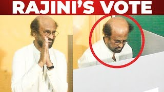 HD VIDEO: Rajinikanth Voted at Stella Maris College! | Lok sabha Election 2019